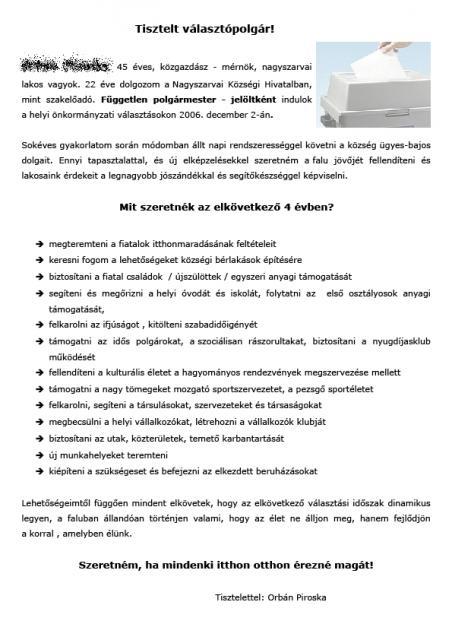 Szórólap - Leták
